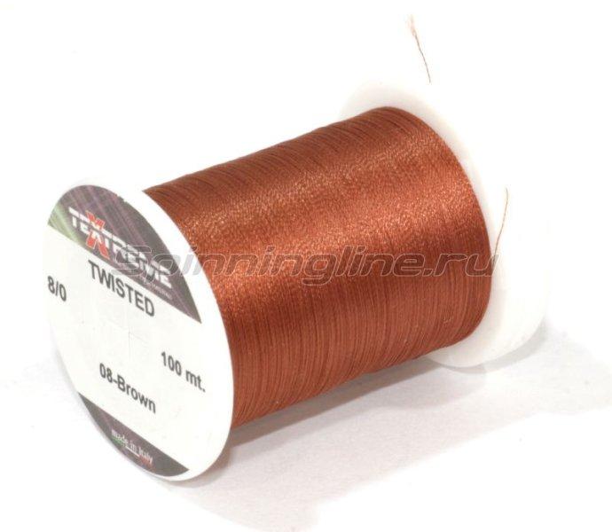 Нить Twisted 8/0 Brown -  1