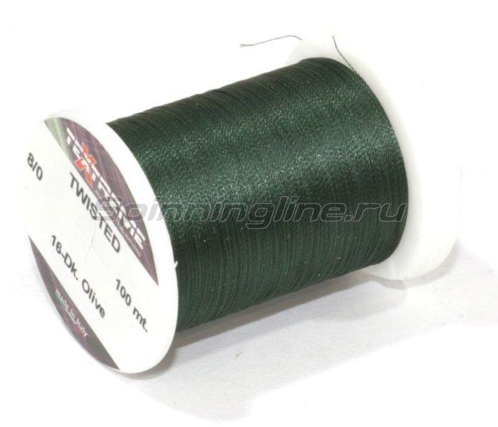 Textreme - Нить Twisted 8/0 Dk. Olive - фотография 1
