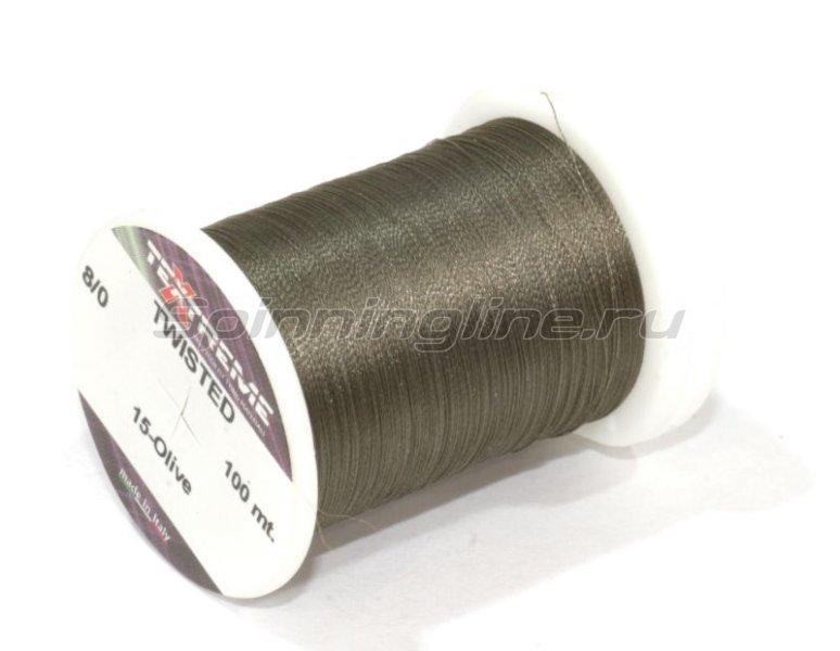 Нить Twisted 8/0 Olive -  1
