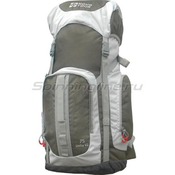 Nova Tour - Рюкзак Дельта 75 V2 серый/олива - фотография 1