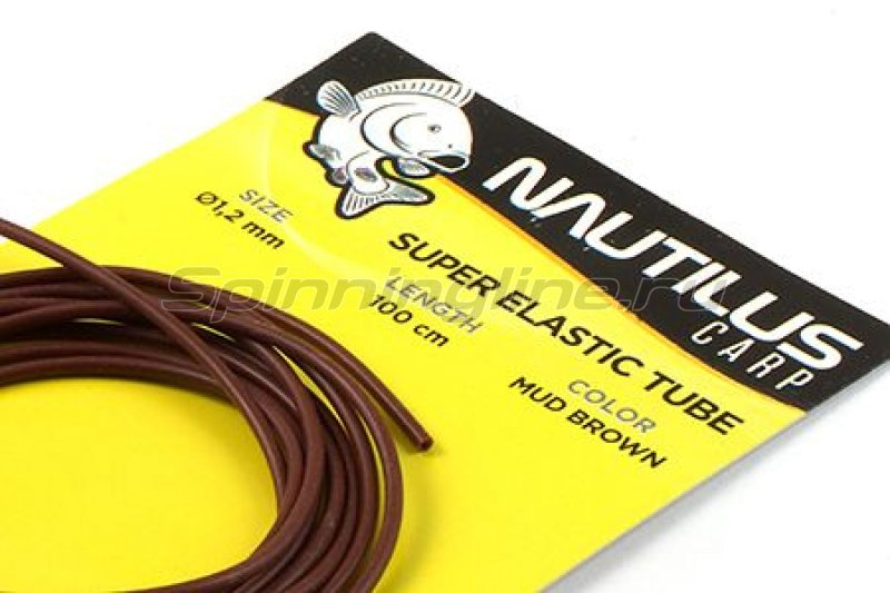 Nautilus - Трубка силиконовая Super elastic tube 1,2мм 1м mud brown - фотография 1