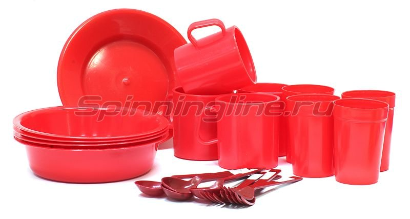 Набор посуды Пластик на 4 персоны -  1