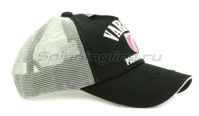 Кепка Varivas Cotton Half Mesh Cap Black/Gray - фотография 4