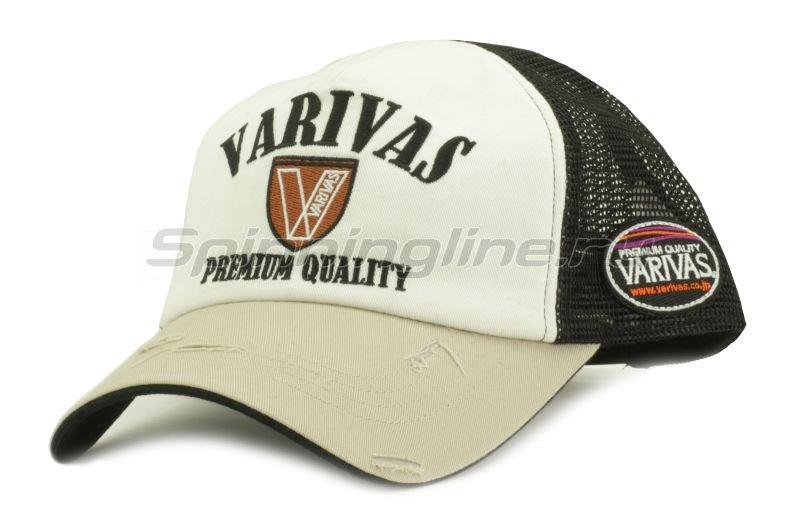 Кепка Varivas Cotton Half Mesh Cap Beige/Black -  1