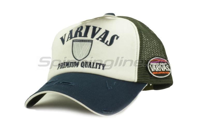 Кепка Varivas Cotton Half Mesh Cap Navy/Khaki -  1