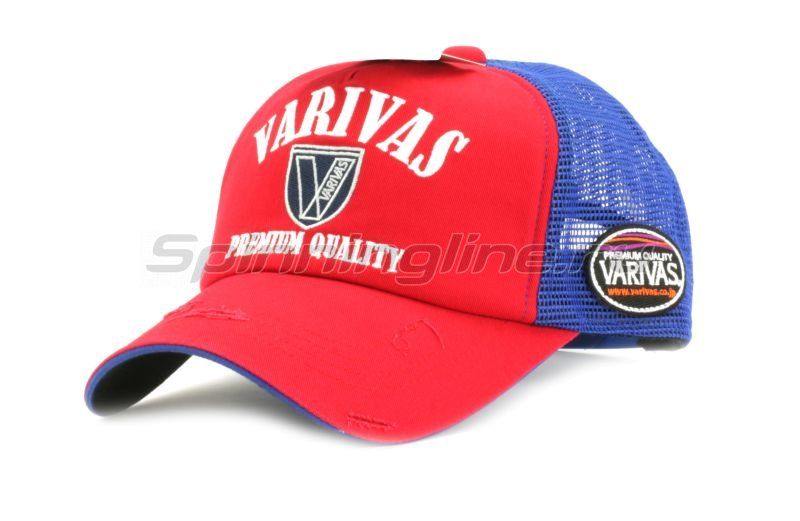 Кепка Varivas Cotton Half Mesh Cap Red/Navy -  1