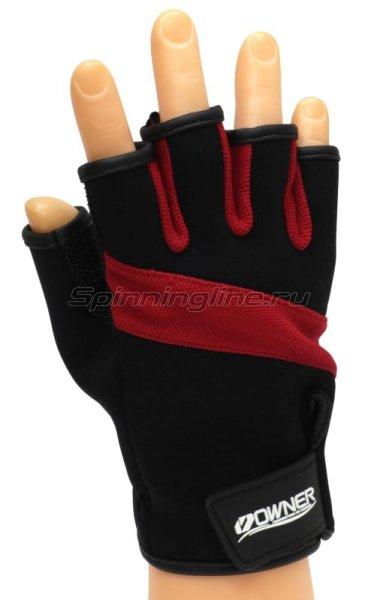 Перчатки Owner без пальцев M черно-красный -  1