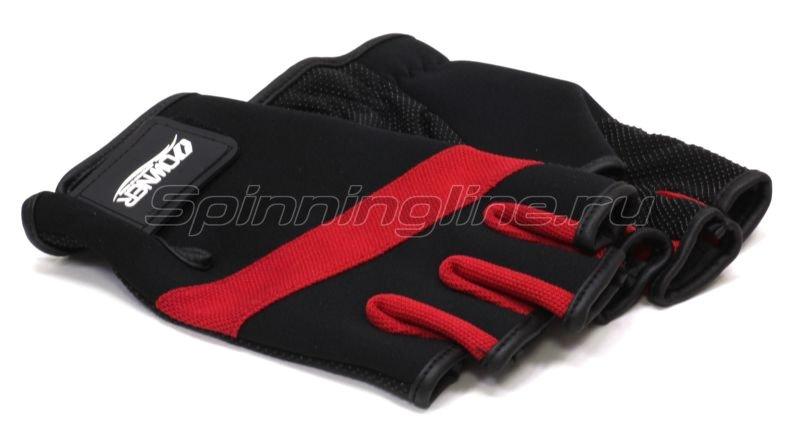 Перчатки Owner без пальцев M черно-красный -  3