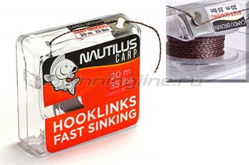 Nautilus - Поводковый материал Fast Sinking 20м 25lb camou brown - фотография 1