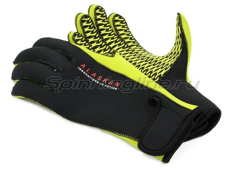 Перчатки неопреновые Alaskan L черный/желтый -  4