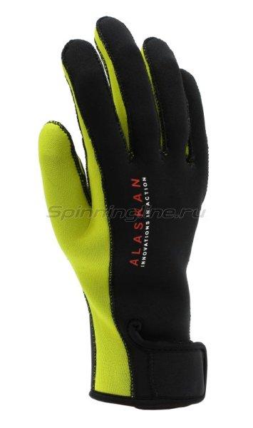 Перчатки неопреновые Alaskan M черный/желтый - фотография 1