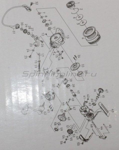 Daiwa - Катушка Exceler 1500 HA - фотография 8