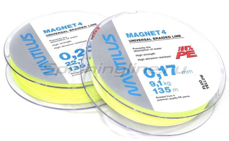 Nautilus - Шнур Magnet 4 Yellow 135м 0,15мм - фотография 1