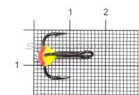 Тройник для приманок LJ с каплей 08/RFR