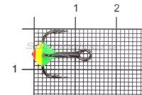 Тройник для приманок LJ с каплей 10/GRY