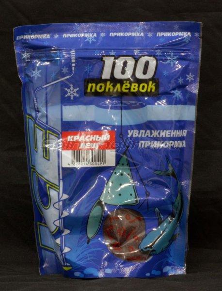 100 поклевок - Прикормка Ice Лещ красный 500гр - фотография 1