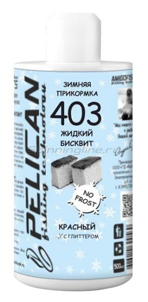 Pelican - Жидкий бисквит красный 403 500мл - фотография 1
