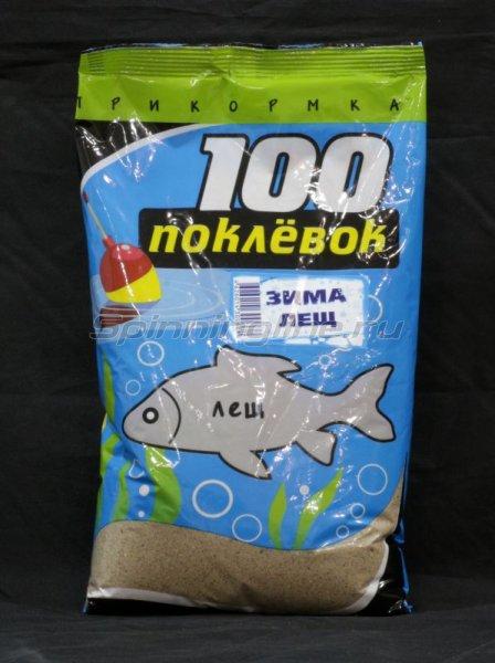 100 поклевок - Прикормка Зима Лещ 900гр - фотография 1