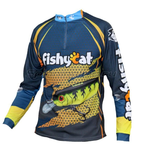 Fishycat - Футболка с длинным рукавом Tomcat Style Dark Blue T-Shirt XL - фотография 1