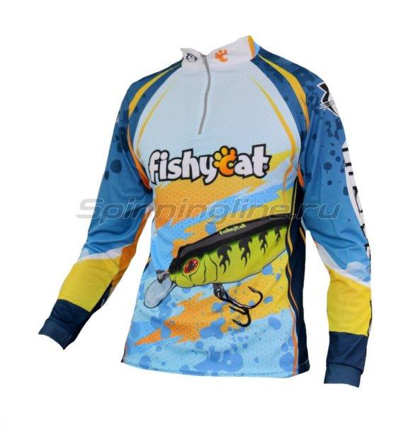 Fishycat - Футболка с длинным рукавом Tomcat Style Light Blue T-Shirt XL - фотография 1