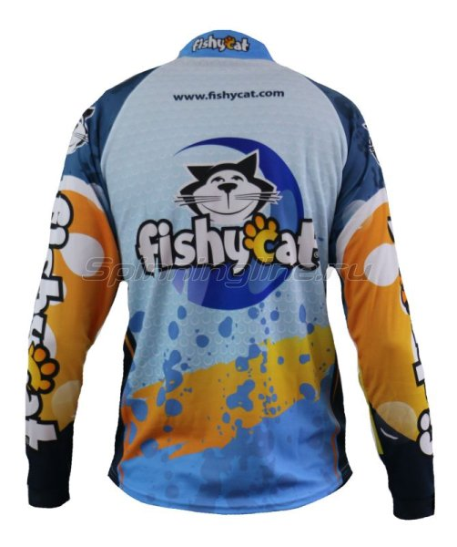 Fishycat - Футболка с длинным рукавом Tomcat Style Light Blue T-Shirt XL - фотография 2