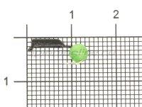 Мормышка True Weight Гвоздешарик Кошачий глаз d1.5 зеленый кр.hayabusa