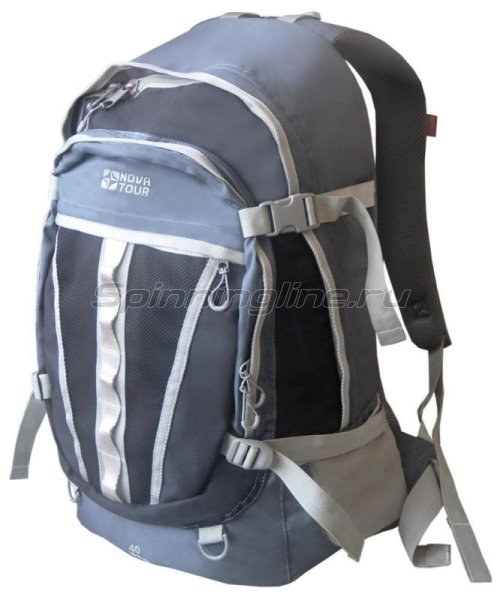 Nova Tour - Рюкзак Слалом 40 V2 серый/синий - фотография 1