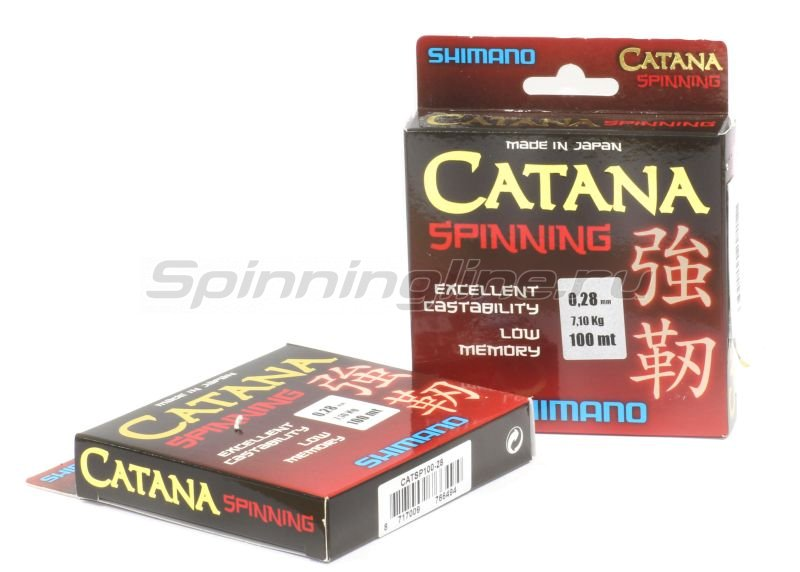 Shimano - Леска Catana Spinning 100м 0,14мм - фотография 2