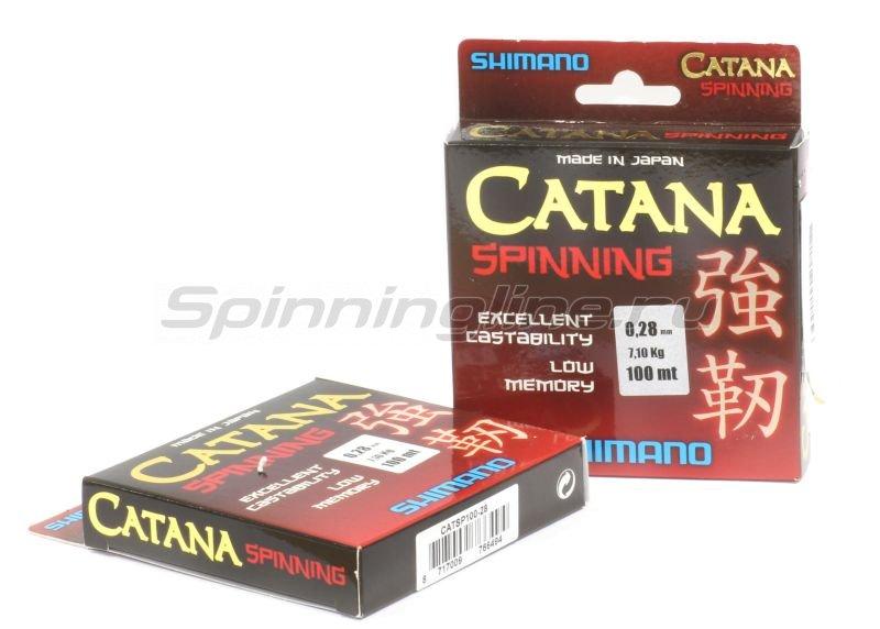 Shimano - Леска Catana Spinning 100м 0,18мм - фотография 2