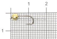Джиг-головка вольфрамовая 0,45гр золото