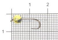 Джиг-головка вольфрамовая 0,75гр золото