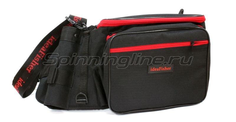 IdeaFisher - Пояс-держатель удилища+сумка спиннингиста Stakan 3.2 black - фотография 1