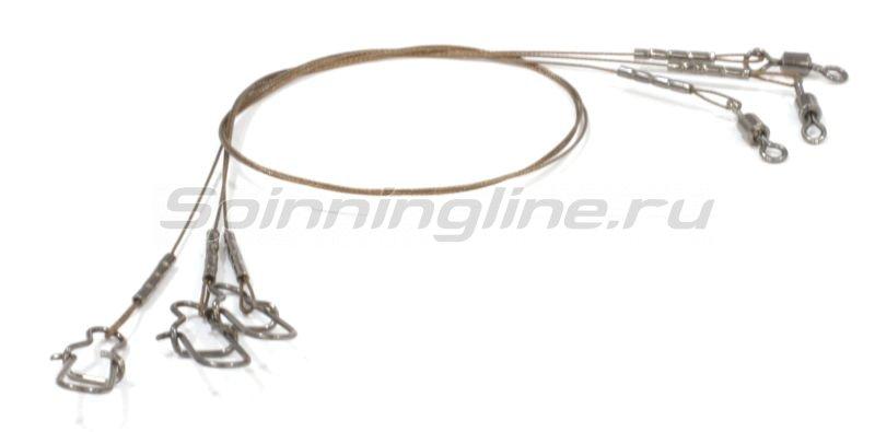 Поводок Wire Innovation 7х7 AFW 18кг 20см - фотография 1