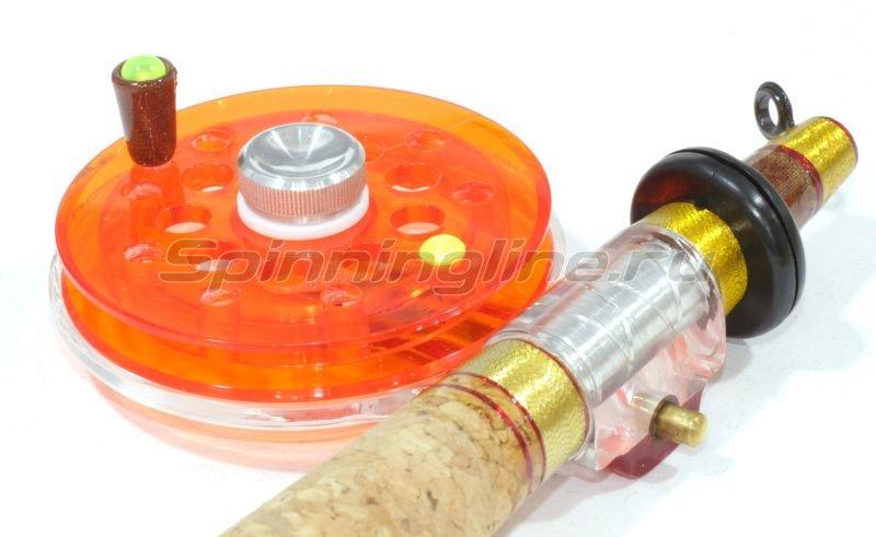 Удочка зимняя Хардкор XL леворукая красная -  2