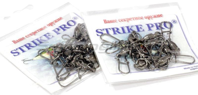 STRIKE PRO - Вертлюг с подшипником и карабином Duo-lock №4х4 50кг - фотография 3
