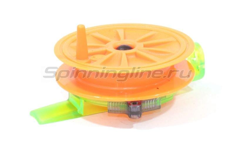 Катушка Пирс Мастер проводочная Горизонт WHA-H60ПК зелный/оранжевый - фотография 1