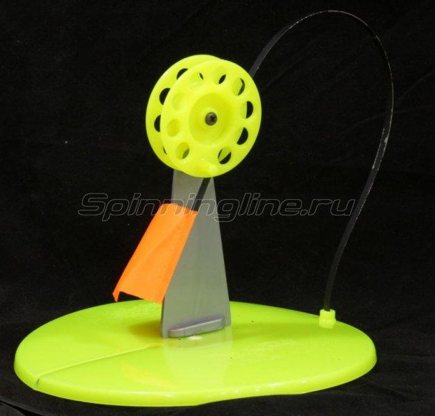 Жерлица зимняя Пирс Мастер диам.190мм цв.желтый - фотография 1