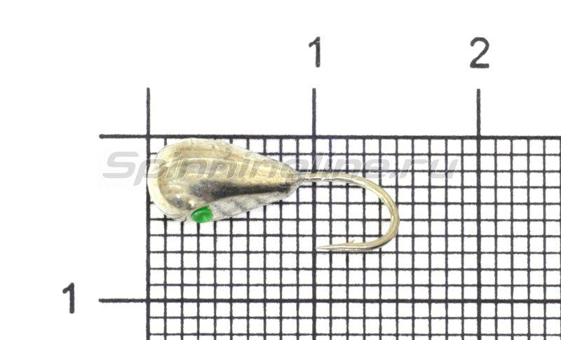 Мормышка Nautilus Капля малая с лыской d5 001 серебро -  1