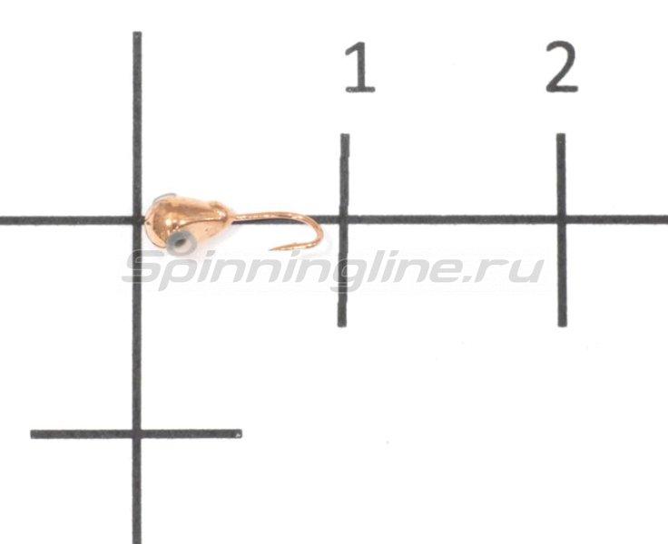 Nautilus - Мормышка Капля малая с отверстием d2.5 003 медь - фотография 1