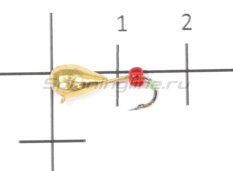 Nautilus - Мормышка Капля полуграненая с ушком d5 002 золото - фотография 1