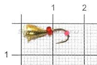 Мормышка Капля с напайкой с ушком d4 002 золото