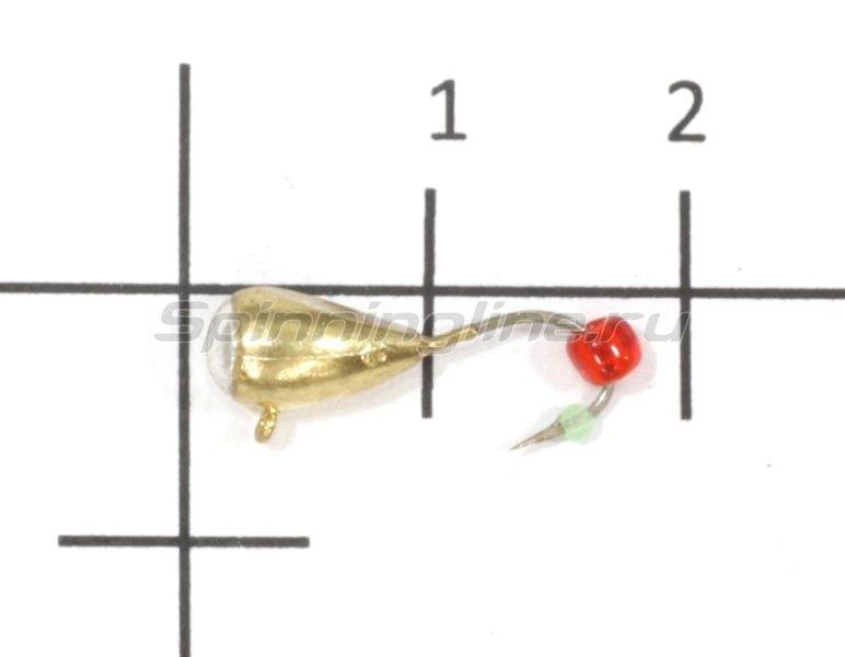 Nautilus - Мормышка Капля с напайкой с ушком d5 002 золото - фотография 1