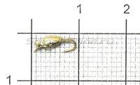 Мормышка Нимфа перевернутая с ушком d2.5 001 серебро