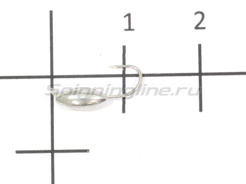 Nautilus - Мормышка Овсинка d3 001 серебро - фотография 1