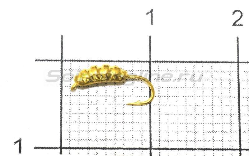 Nautilus - Мормышка Опарыш с ушком d1.5 002 золото - фотография 1