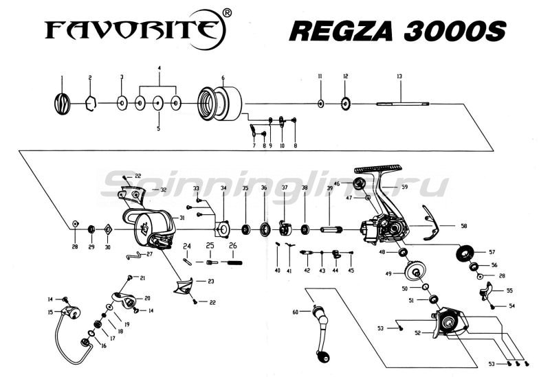 Катушка Regza 3000S -  6
