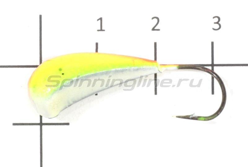 Fish Gold - Мормышка судаковая Трехгранка Светлячок 10гр 13 желто-красный - фотография 1