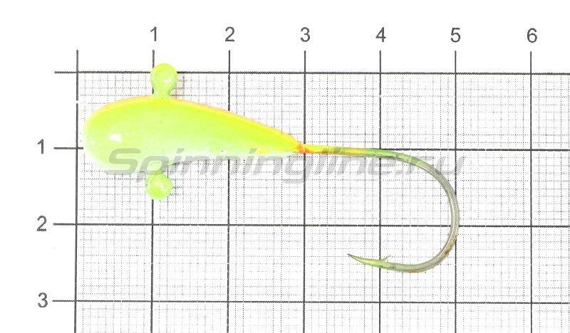 Fish Gold - Мормышка судаковая Уралка Светлячок 12гр 13 желто-красный - фотография 1