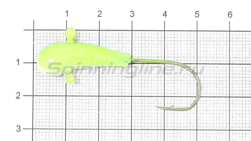 Fish Gold - Мормышка судаковая Уралка Светлячок 12гр 14 желто-синий - фотография 1