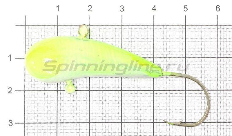 Fish Gold - Мормышка судаковая Уралка Светлячок 32гр лимонный - фотография 1